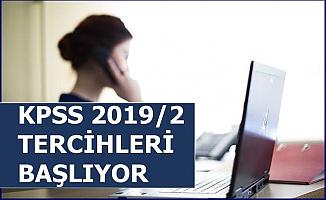 KPSS 2019/2 Tercihleri Başlıyor