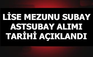 Lise Mezunu Subay Astsubay Alımı Tarihi Belli Oldu (2020 MSÜ)