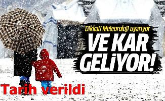 Meteoroloji Tarih Verdi: Kar Geliyor