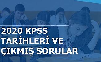 Ortaöğretim-Önlisans ve Lisans KPSS Tarihleri-Çıkmış Sorular ve Cevapları