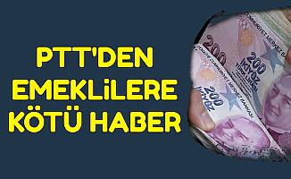 PTT'den Emeklilere Kötü Haber: Maaşlarda 5 TL Kesinti