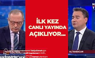 Yeni Parti Hazırlıklarında Sona Gelen Ali Babacan : Cumhurbaşkanımız Ayrılmamızı İstemedi Ama...
