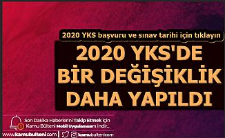YKS'de Bir Değişiklik Daha (TYT AYT YDT 2020 Sınav ve Başvuru Tarihi)