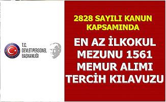 2828 Kapsamında 1561 Memur Ataması Yapılacak-Tercih Kılavuzu Yayımlandı (2828 nedir?)