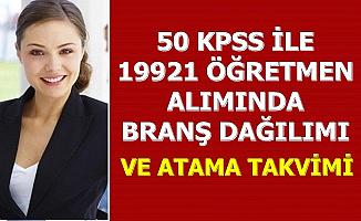 50 KPSS ile 19921 Öğretmen Alımı Branş Dağılımı ve Atama Takvimi 2020