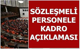 Adalet Bakanı'ndan Sözleşmeli Personele Kadro Açıklaması
