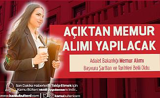 Adalet Bakanlığı'na Memur Alımı (Mühendis) Yapılacak