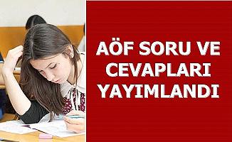 Anadolu Üniversitesi 14-15 Aralık AÖF Soru ve Cevapları Yayımlandı-E Kampüs Giriş