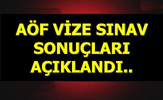 Anadolu Üniversitesi AÖF Vize Sınav Sonuçları Açıklandı