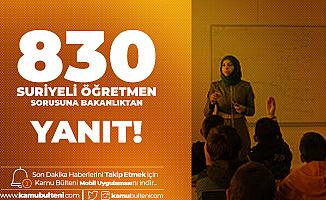 CHP'li Sümer: 830 Suriyeli Öğretmen Göreve Başladı! MEB: Milli Bütçeden Atamıyoruz