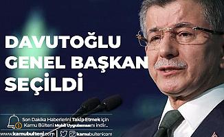 Gelecek Partisi'nde Kurucular Kurulu Toplantısının Ardından Davutoğlu Genel Başkan Seçildi!