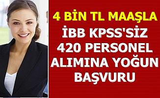 İBB KPSS'siz 4 Bin TL Maaşla 420 Personel Alımına Yoğun Başvuru-İşte Başvuru Linki