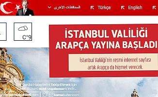 İstanbul Valiliği'nin Resmi Sayfası Arapça Yayına Başladı