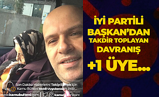 İYİ Partili Başkan Sosyal Medya Hesabından Paylaştı: Yaşlı Teyze İYİ Parti'ye Böyle Üye Oldu