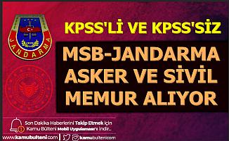 Jandarma ve MSB'ye Sivil Memur-Asker Alımı KPSS'li-KPSS'siz 2019