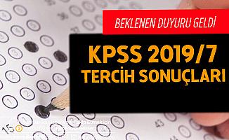 KPSS 2019/7 Tercih Sonuçları Açıklandı