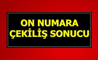 MPİ On Numara Çekiliş Sonucu 9 Aralık 2019