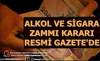 Ocak 2020 Alkol ve Sigara Zammı Kararı Resmi Gazete'de