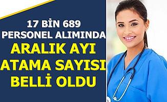 Sağlık Bakanlığı Aralık 2019 Atama Sayısı Belli Oldu