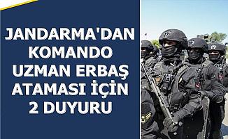 Son Dakika.. Jandarma Komando Uzman Erbaş Atama İlanı