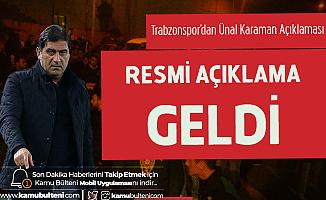 Son Dakika! Trabzonspor Ünal Karaman ile Yolları Ayırdı