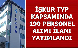TYP Kapsamında 190 Personel Alımı Yapılıyor
