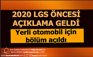 2020 LGS Öncesi Önemli Açıklama: Yeni Bir Bölüm Açıldı