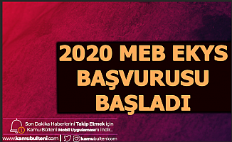 2020 MEB EKYS Başvuru Kılavuzu Yayımlandı (Müdür-Müdür Yardımcılığı Başvurusu)