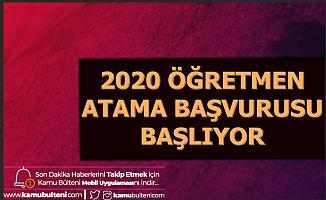 2020 Öğretmenlik Başvuruları Başlıyor-İlkatama.meb.gov.tr