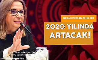 Bakan Pekcan Canlı Yayında Açıkladı! 2020'de Desteklerde Artış Yapılacak