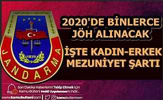 Jandarma Kadın Erkek JÖH Alımı Mezuniyet Şartı 2020