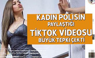 Kadın Polis Memurunun Sosyal Medyada Paylaştığı Video Başına Dert Oldu!