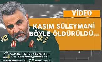 Kasım Süleymani'nin Konvoyu Böyle Vuruldu (Video)