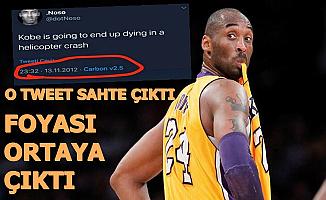 Kobe Bryant'ın Ölümünü 2012'de Twitter'da Bildim Demişti-Foyası Ortaya Çıktı