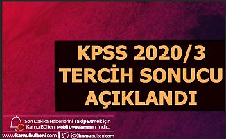 KPSS 2020/3 Tercih Sonucu Açıklandı-KPSS Taban Tavan Puanları Açıklandı