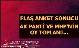 Son Anket Sonucu; AK Parti ile MHP'nin Oy Oranı...