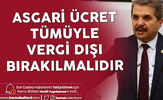 Son Dakika! Antalya Milletvekili Feridun Bahşi'den TBMM'de Asgari Ücret Çağrısı: Tümüyle Vergi Dışı Bırakılmalıdır