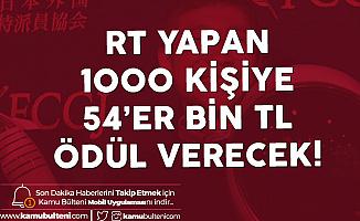 Twitter'da Para Dağıtacak! 1000 Kişiye 54 Bin Lira Verecek