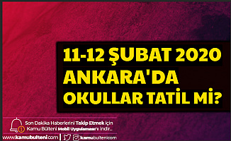 11-12 Şubat Ankara'da Okullar Tatil mi? İşte Ankara Hava Durumu Son Dakika 2020