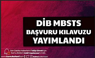 2020 DİB MBSTS Başvuru Kılavuzu Yayımlandı
