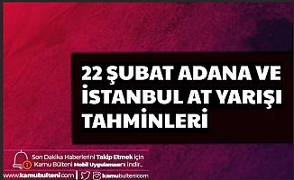 22 Şubat Adana ve İstanbul At Yarışı Tahminleri Son Dakika