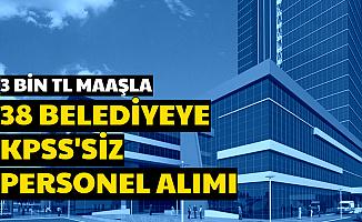 3 Bin TL Maaşla 720 Belediye Personeli Alımı Başvurusu Başladı