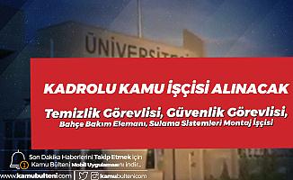 Aksaray Üniversitesi'ne İŞKUR Üzerinden Kadrolu Kamu İşçisi (İlkokul-Lise) Alınacak! İşte Genel ve Özel Şartlar