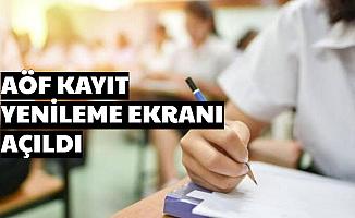 Anadolu Üniversitesi AÖF Kayıt Yenileme Ekranı Açıldı Gis (SD Ne Demek , Ücret Hangi Bankaya)