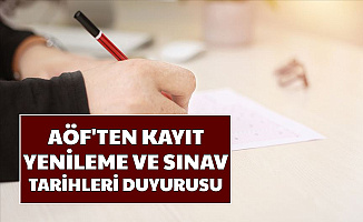 Anadolu Üniversitesi'nden AÖF Kayıt Yenileme ve Sınav Tarihleri Duyurusu