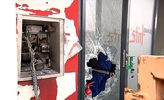 ATM'yi Havaya Uçurup Paraları Çaldılar