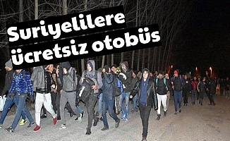 Bolu Belediyesi'nden Avrupa'ya Gidecek Suriyelilere Ücretsiz Otobüs