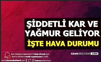 Bu İllerde Yaşayanlar: Şiddetli Kar Başlıyor (İstanbul - Anlara - Konya Hava Durumu)