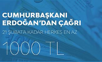 """Cumhurbaşkanı Erdoğan'dan Talimat! """"21 Şubat'a Kadar 1000 TL Yatırılacak"""""""