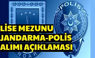 En Az Lise Mezunu Polis ve Jandarma Alımında Açıklama (PÖH - JÖH)